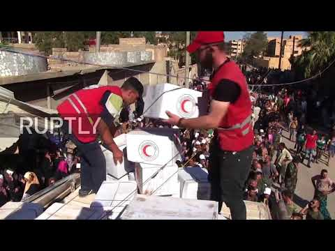 Syria: Red Crescent delivers aid to Deir ez-Zor after two-year IS siege