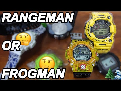 how to change time on frogman g-shock divers