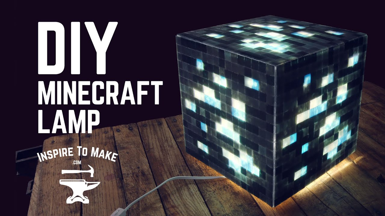 Diy minecraft lamp youtube diy minecraft lamp solutioingenieria