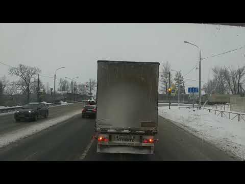 $22 - Снова в Будогощь на Скании. Проездом через Кириши. Много снега, дороги замело.)))