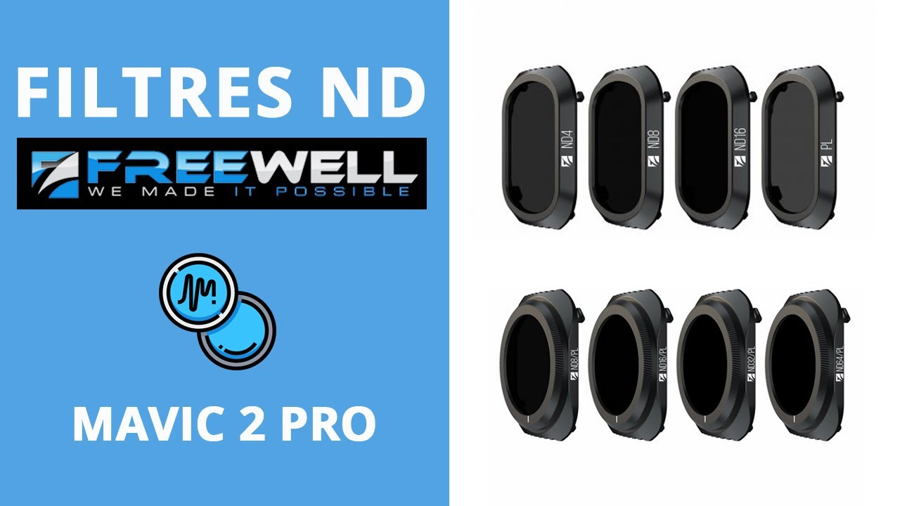 video Filtres ND/PL Freewell – Mavic 2 Pro