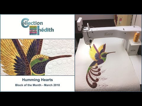 Quilt Block of the Month - March 2018 - Humming Hearts - Collection Inédith
