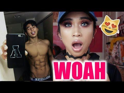 Reacting To Most handsome Asian boys Tik Tok
