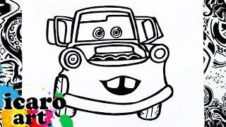 como dibujar a mate | how to draw mater | cars | como desenhar mate