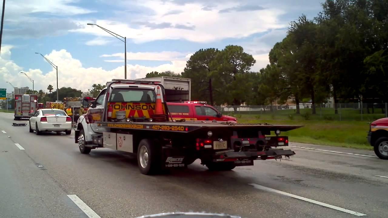 I 4 West Car Accident Orlando Florida Youtube