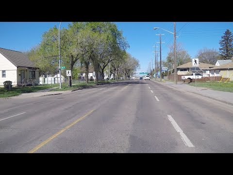 Driving in Edmonton Canada. City Life. Homes/Houses/Property. Alberta Province.