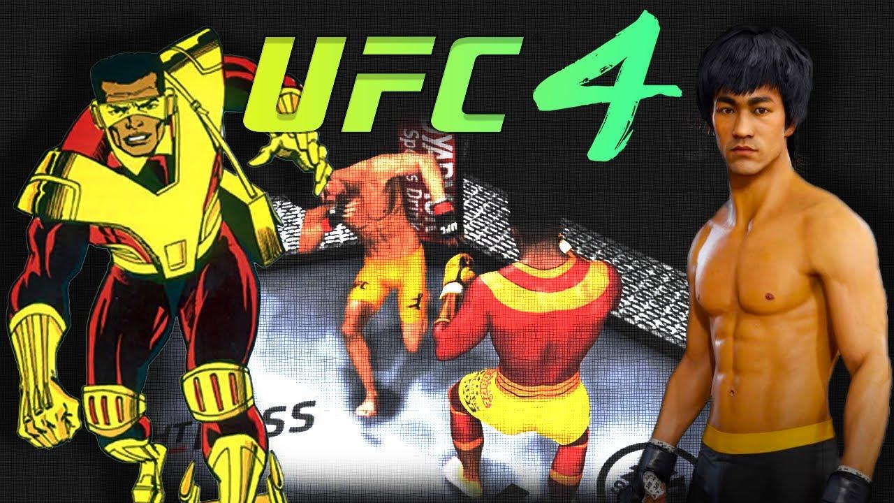 UFC4   Bruce Lee vs. Rocket Racer (EA sports UFC 4) - rematch