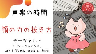 """声楽練習 「ドン・ジョパンニ」Act 1 """"Fuggi, crudele, fuggi 顎の力の抜き方 20年1月12日"""