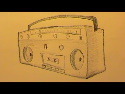 How To Draw A Radio Quickly  Step By Step
