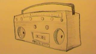 How To Draw a Radio Quickly (Step by Step)