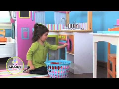 grande cuisine en coin kidkraft youtube. Black Bedroom Furniture Sets. Home Design Ideas