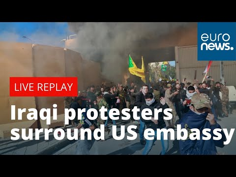 Iraqi protesters surround US embassy | LIVE