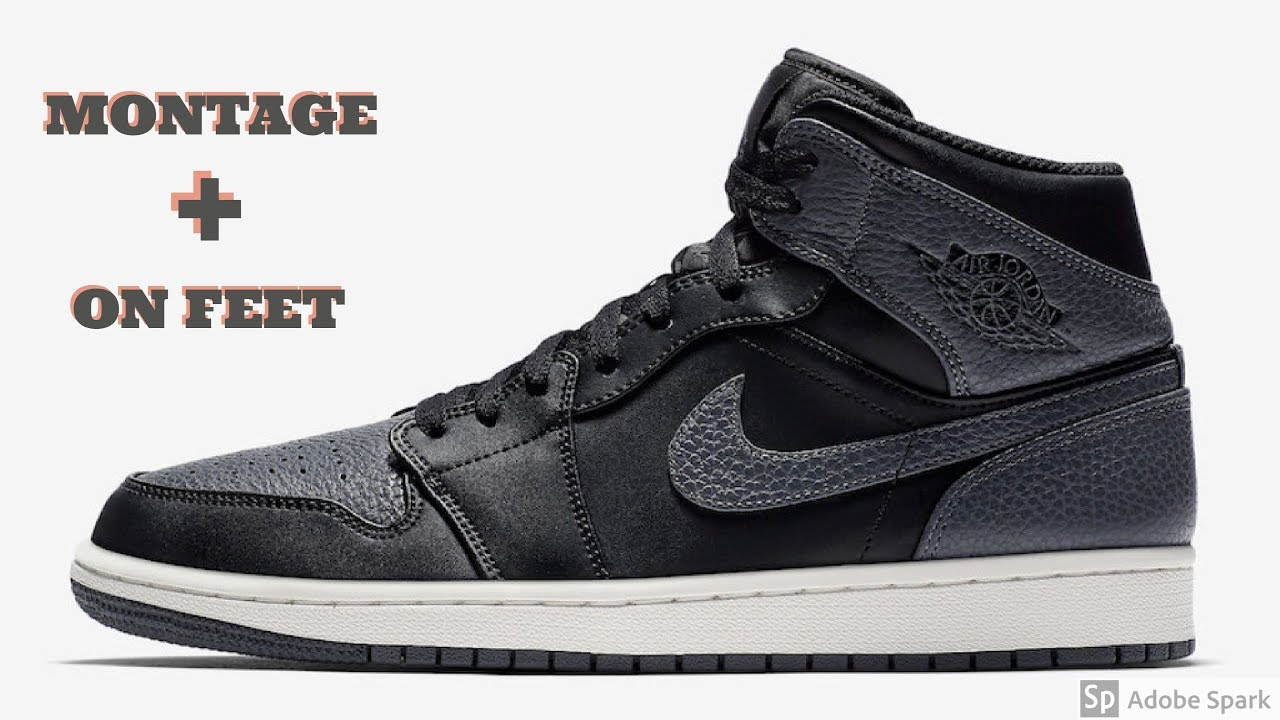 fd06acd26123 Air Jordan 1 mid montage + on feet - YouTube