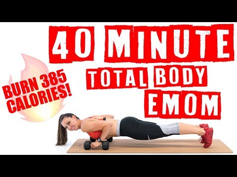 40 Minute Total Body EMOM Workout 🔥Burn 385 Calories! 🔥