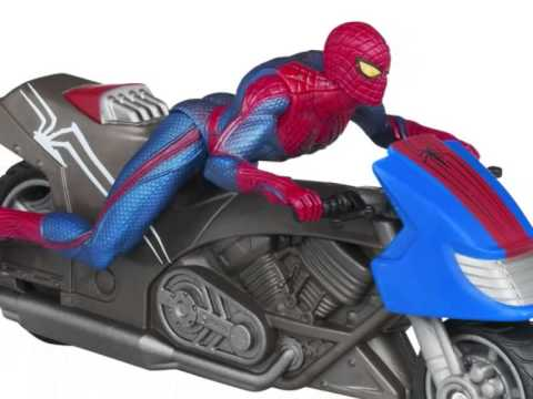 Spiderman motorcycle toy for kids youtube - Spider man moto ...