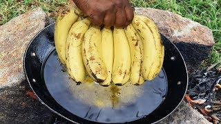How to Make Banana full fry - Tasty Banana balls | Village Food Recipe- i v food
