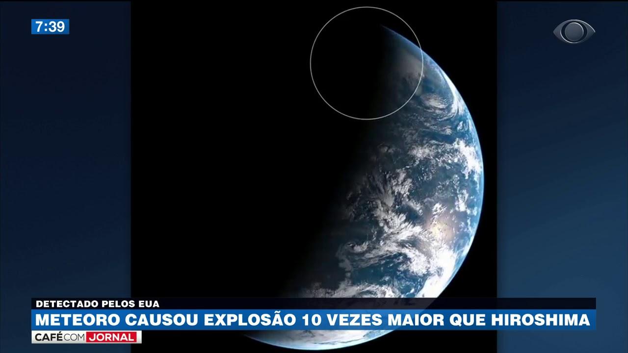 Nasa detecta explosão dez vezes maior que Hiroshima