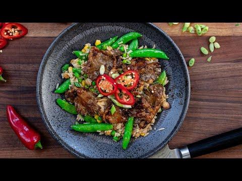 THE BEST VEGAN FRIED RICE I've Ever Had! + Sticky Teriyaki Mushrooms | The Wicked Kitchen