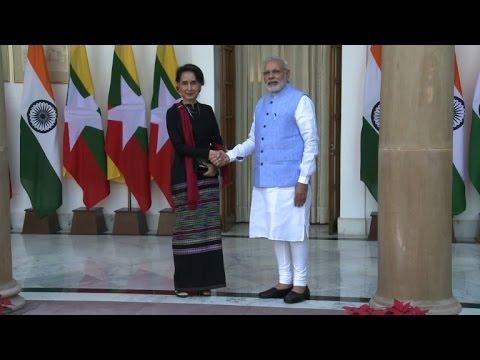 Myanmar has challenges ahead says Suu Kyi in India