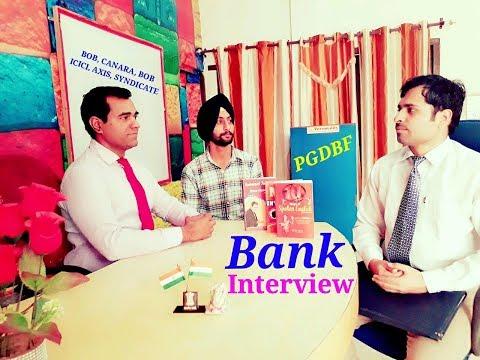 Job Interview in CANARA, BOB, IDBI, ICICI, AXIS, Syndicate Bank : PGDBF Course 2018