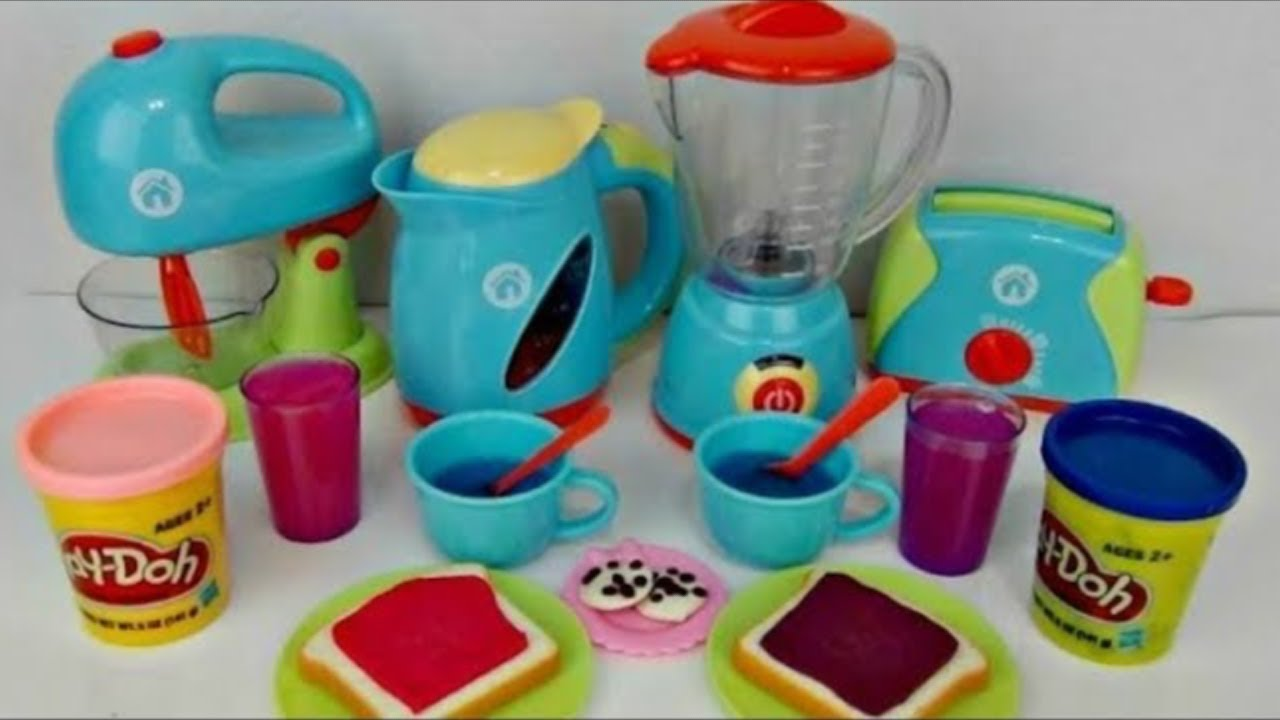 Play Doh Creations Breakfast with Just Like Home Deluxe Kitchen Play Set