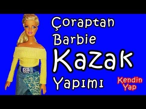 Kendin Yap / Çoraptan Kolay Kazak Yapımı / Barbie Kazak Yapımı