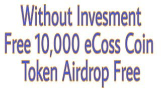 Get Bounce 10,000 eCoss Coin Token Airdrop Free Without Invesment