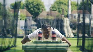 Watch Jofra Archer attempt the bottle cap challenge