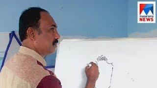 Shaji Mathew rewrites the conventional Cartoon drawing methods  | Manorama News