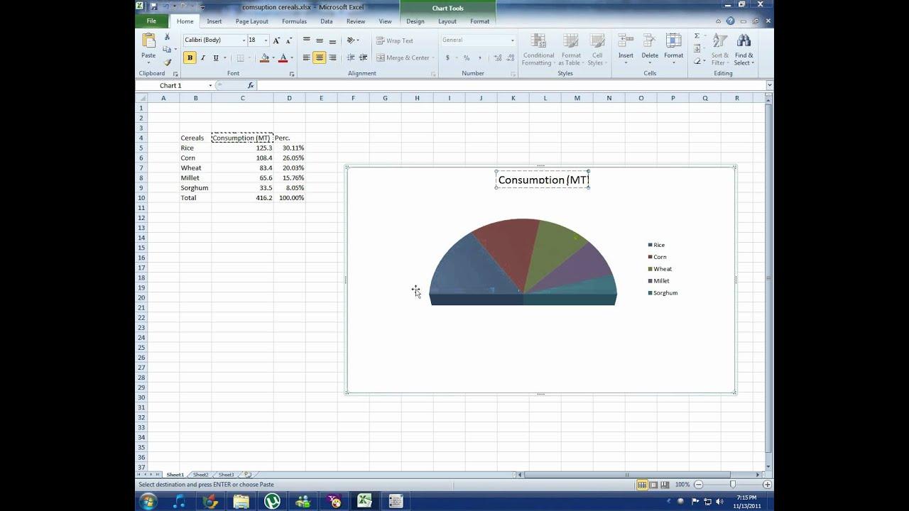 Half Pie Chart In Excel Homeschoolingforfree