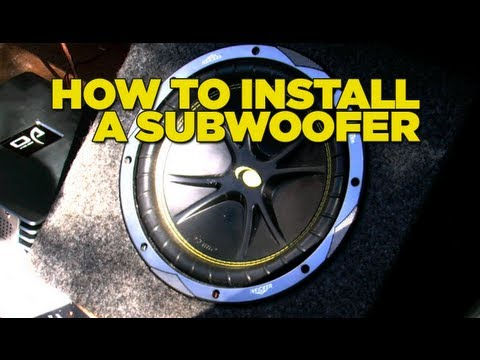 How To Install A Sub Woofer