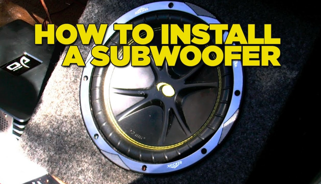 How To Install A Sub Woofer Youtube 2007 Toyota Camry Stereo Amp Wiring