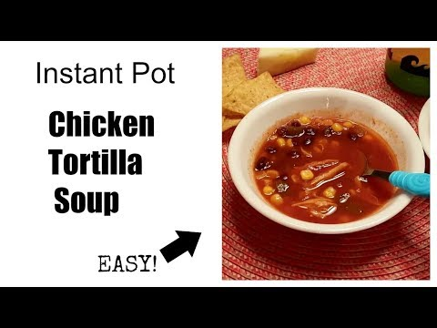 Instant Pot Chicken Tortilla Soup | Easy Recipes