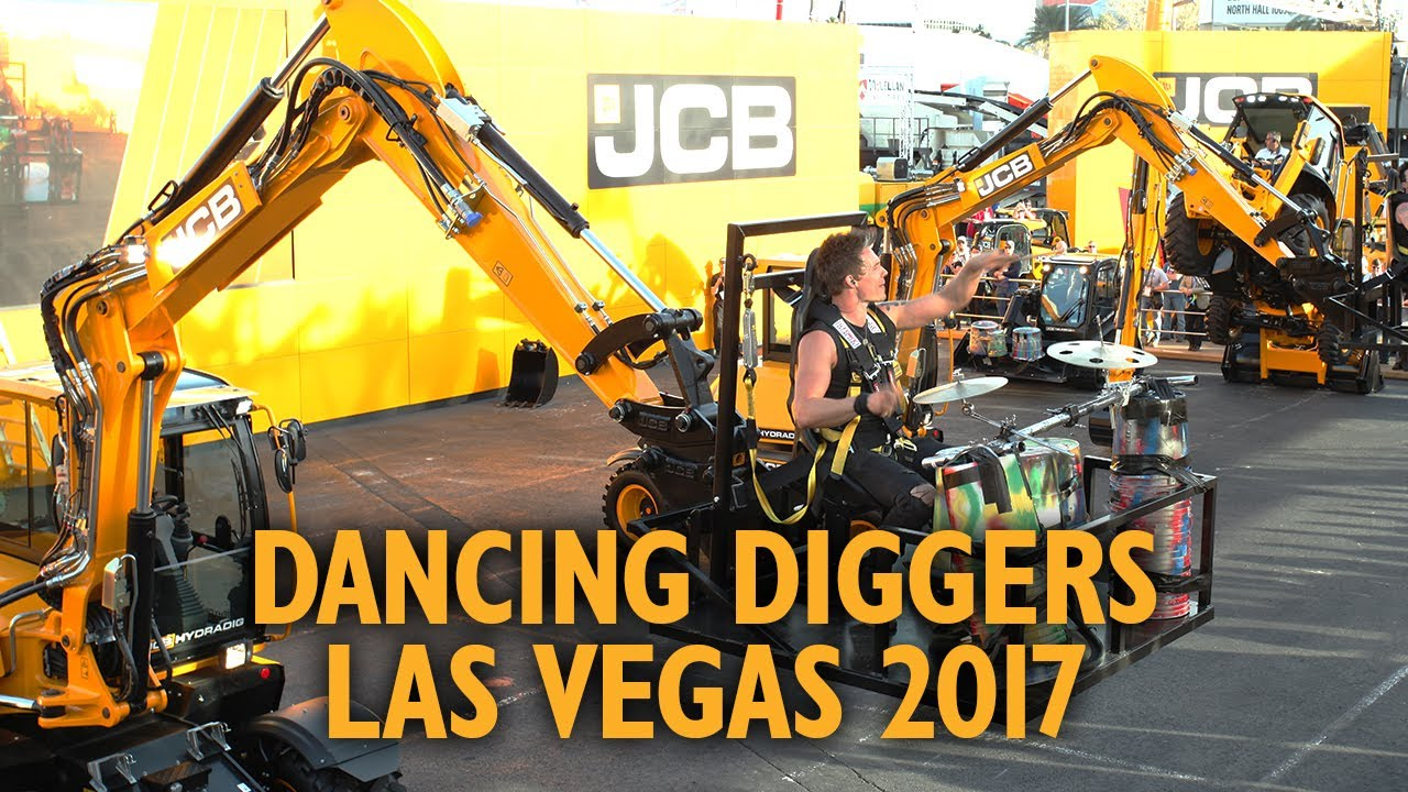 JCB Dancing Diggers x Recycled Percussion at Conexpo 2017, Las Vegas USA.