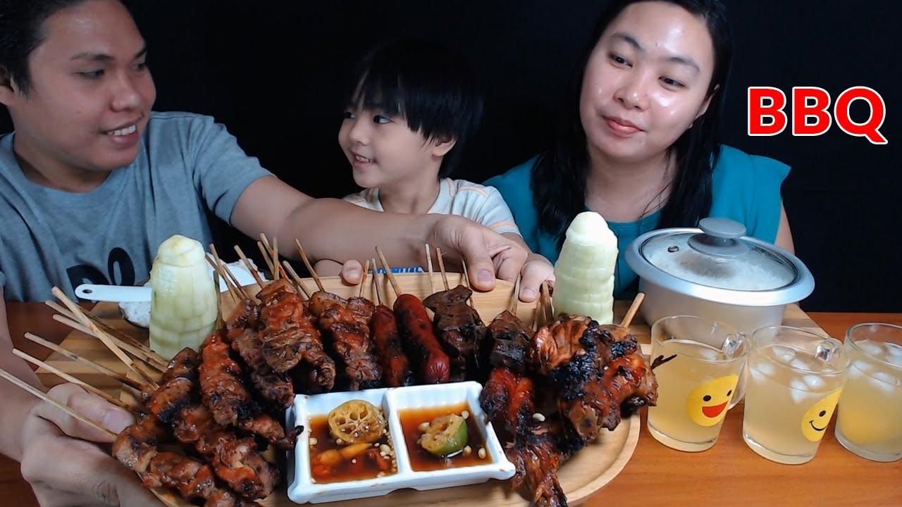 STREET FOOD BBQ MUKBANG / BBQ MUKBANG PHILIPPINES | Bisaya Studio