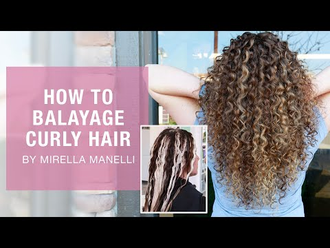 How To Balayage Curly Hair By Mirella Manelli | Kenra Color | Kenra Professional