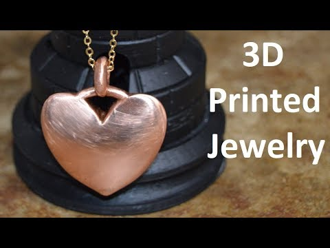 3D Printed and Copper Plated Jewelry ~ DIY Copper Necklace Pendant
