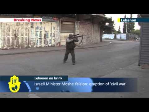 Tripoli violence continues: Israeli Minister Moshe Ya'alon warns Lebanon on the verge of civil war