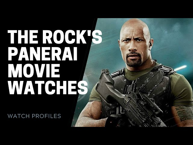 Dwayne Johnson Panerai Watches | SwissWatchExpo