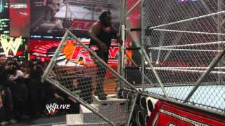 Raw: Big Show vs. Alberto Del Rio - Raw Roulette Steel Cage