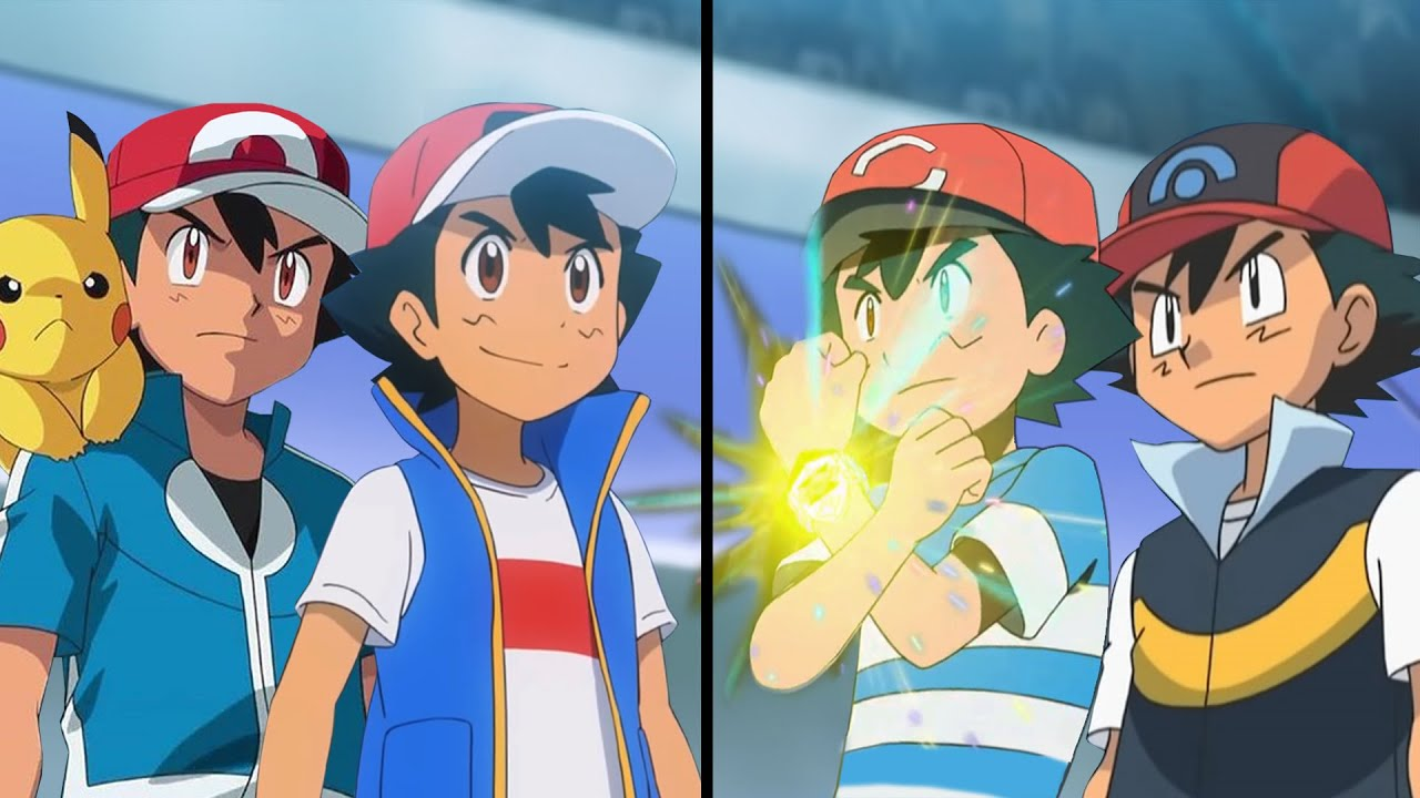 Download Pokemon Characters Battle: Galar Ash and Kalos Ash Vs Alola Ash and Sinnoh Ash (Ash Vs Ash)