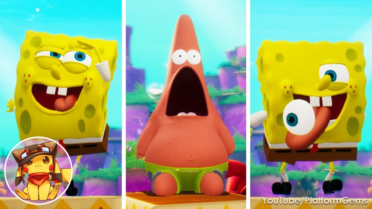 SpongeBob Battle for Bikini Bottom Rehydrated - All Idle Animations [1080p]