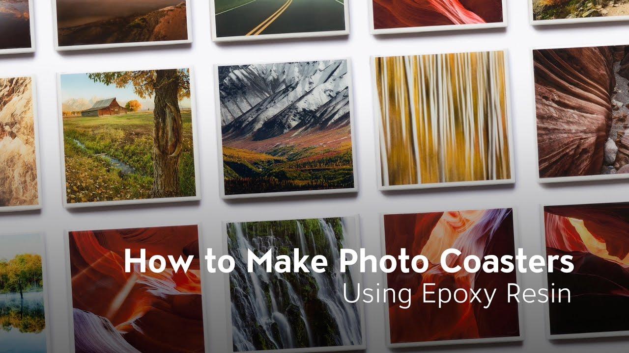How To Make Photo Coasters Using Epoxy Resin | Brian Truono