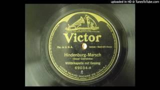 Hindenburg Marsch (Oscar Czerwinka); (Lira Tercett - Vocal Group);  Recorded 1916