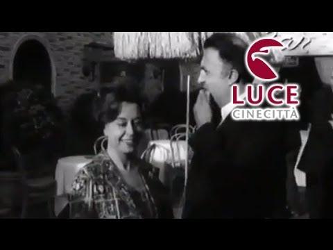 Oscar 1964 - Festeggiano Fellini per il premio a Otto e Mezzo