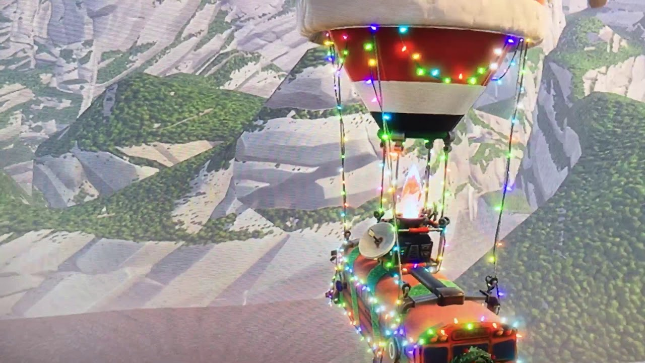 Fortnite Flying Passed The Island Glitch In The Christmas Bus