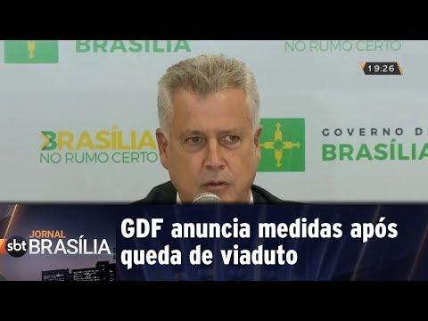 GDF anuncia medidas após queda de viaduto