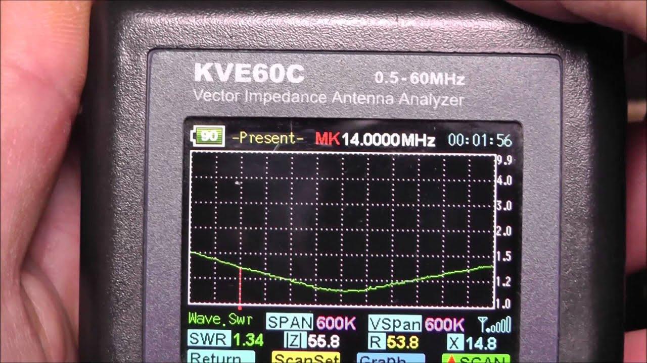KVE-60C (MFJ-223) VNA antenna analyser quick review