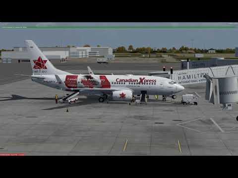 Boeing 737-700 Hamilton (CYHM) to Halifax (CYHZ) P3Dv4