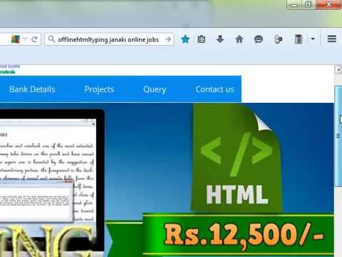 Demo Work For Offline Html Typing || JaNaKi Online Jobs com